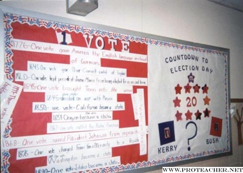Social Studies, Presidential Elections: One Vote/Countdown to Election