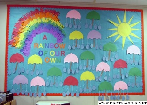 April Showers A Rainbow Of Our Own Bulletin Board