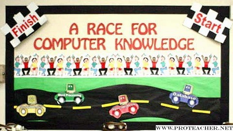 Computer lab a race for computer knowledge bulletin board