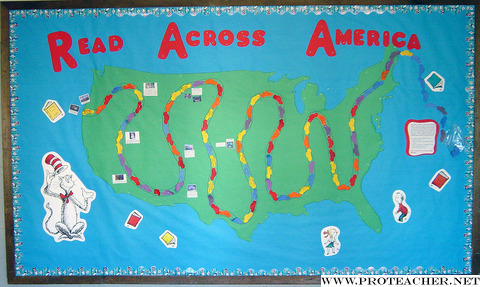 Reading Incentive: READ ACROSS AMERICA Bulletin Board