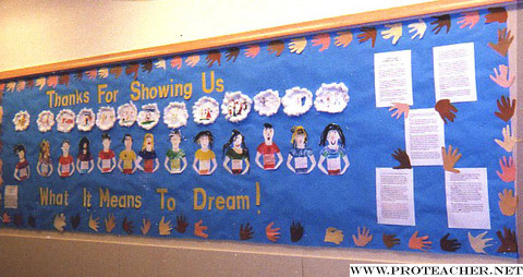 January Thank You For Showing Us What It Means To Dream Bulletin Board